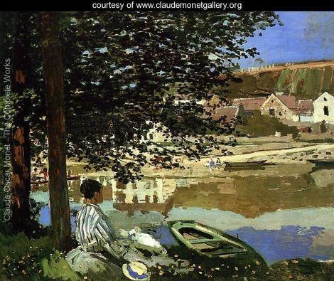 Monet, River Scene At Bennecourt