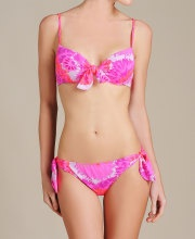 Check this Nanette Lepore Palm Bra Style Bikini! tie dyed water color pink amazingness!!!!!