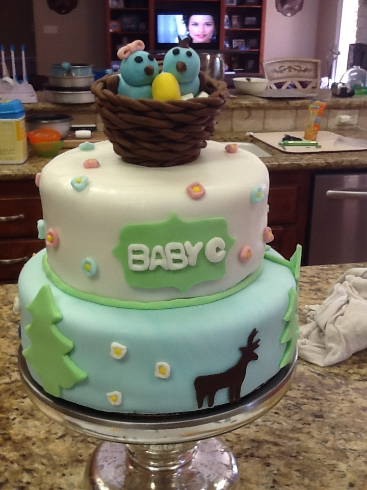 woodland animal baby shower cake baby shower ideas pinterest