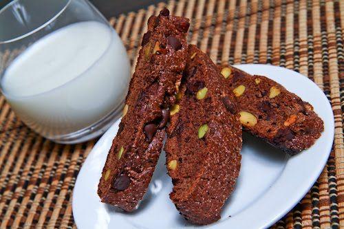 Chocolate and Pistachio Biscotti   Recipe