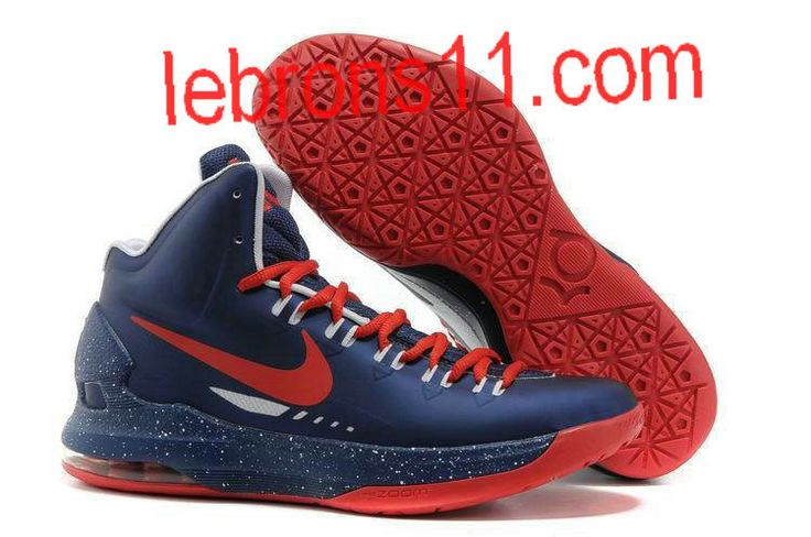 KD 5 Girls Navy Blue University Red Basketball Shoes for Womens
