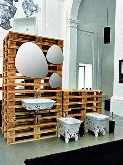 Muebles Para Baño Hechos Con Palets:Bathroom Pallet Furniture Ideas