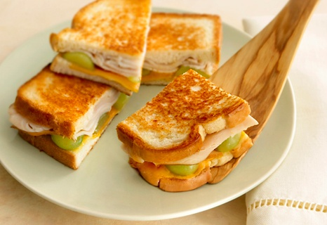 Grapes on a grilled turkey and cheese sandwich? You bet...it's easy ...