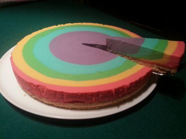 Rainbow Cheesecake | Cakes n cupcakes | Pinterest