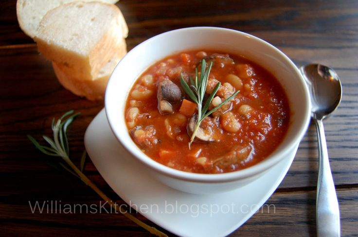 White Bean & Mushroom Stew. Vegan, Vegetarian, Gluten-free, Healthy ...