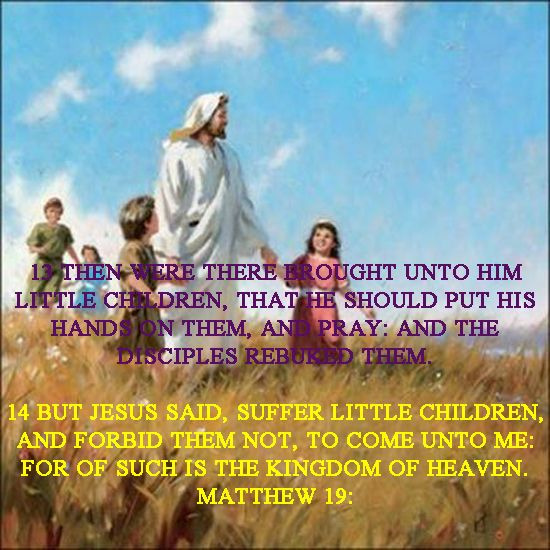 Suffer the little children to come
