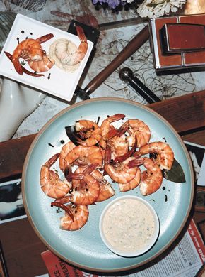 Peel-and-Eat Spiced Shrimp with Chipotle Remoulade | Recipe