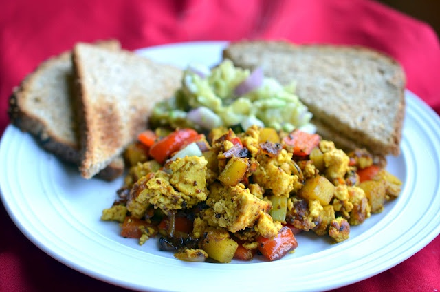 Mexican tofu scramble - gonna try this for breakfasts