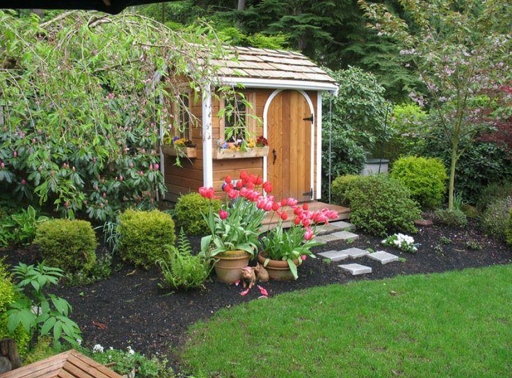 Cute garden shed idea  Garden  Pinterest