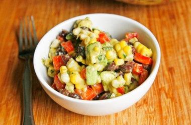 Creamy Black Bean, Red Pepper and Corn Salad with Avocado and Cilantro ...