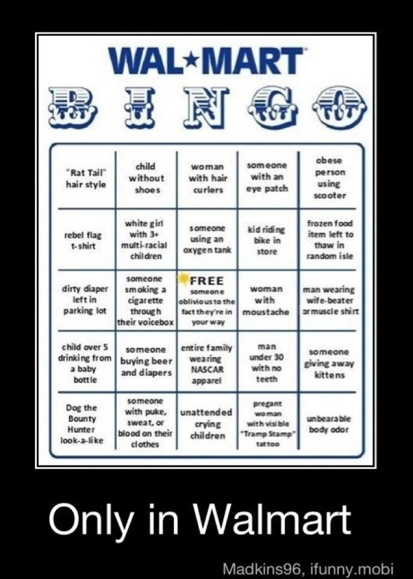 Walmart bingo lmao here s a great game to play mandy