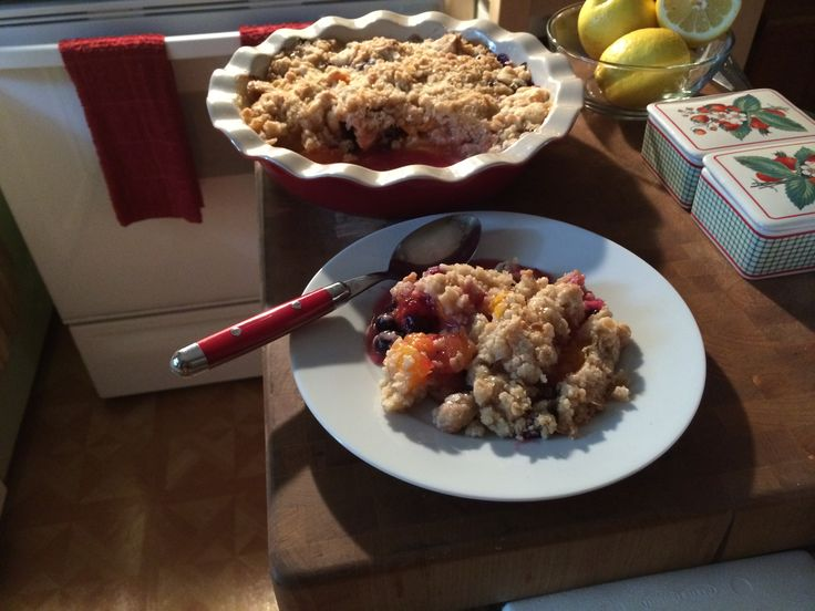 My Apricot And Blueberry Crumble, visit lindalouhamel.com for this ...