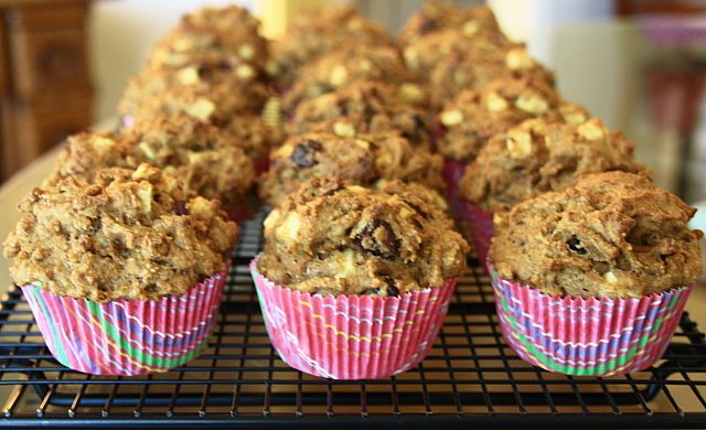Apple Cranberry Bran Muffins | deliciousness | Pinterest