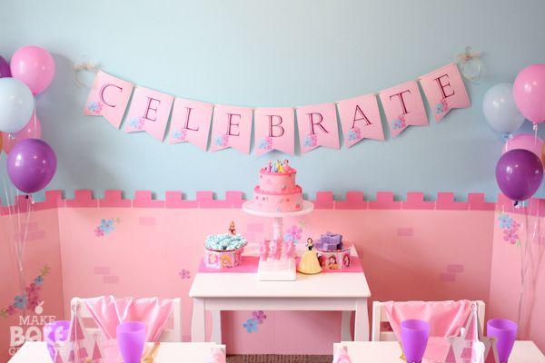 Cute disney princess party party ideas pinterest - Princess party wall decorations ...