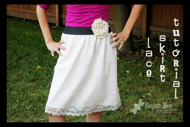 DIY DownEast Lace Skirt Tutorial