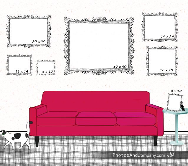 Picture frame size guide For the Home Pinterest