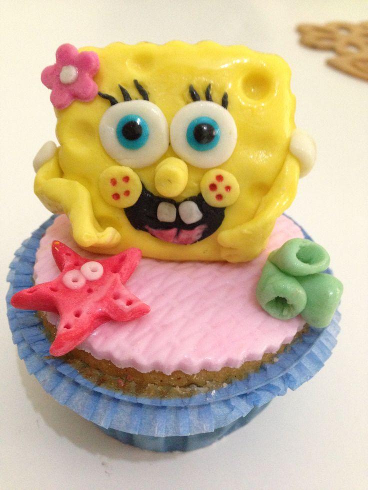bob sponge cupcake ;)