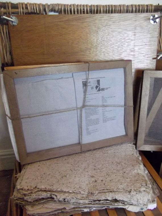 A4 Mould and Deckle for Papermaking by thehappyendings on Etsy, £28.00