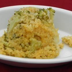 Cheesy Broccoli Quinoa Allrecipes.com
