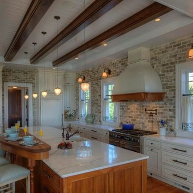 Backsplash Brick Kitchen Design Home Decor Pinterest