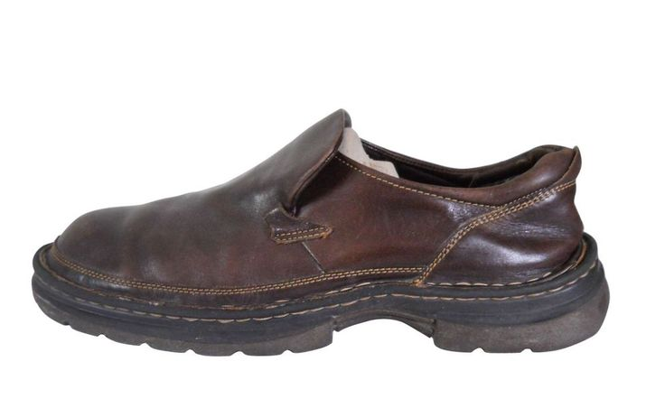 Born Shoes Men Loafer Size 13 Brown Leather Slip On Casual EU 46 UK 12