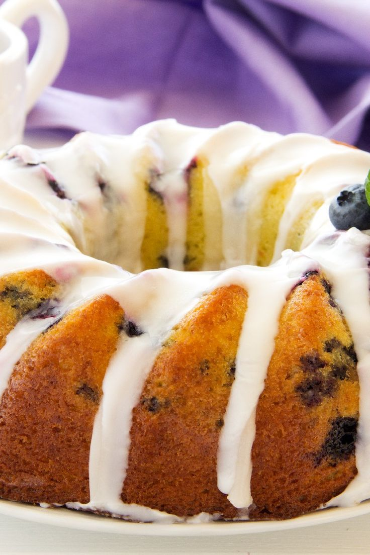 Blueberry Pound Cake Recipe | Cakes and Cupcakes | Pinterest