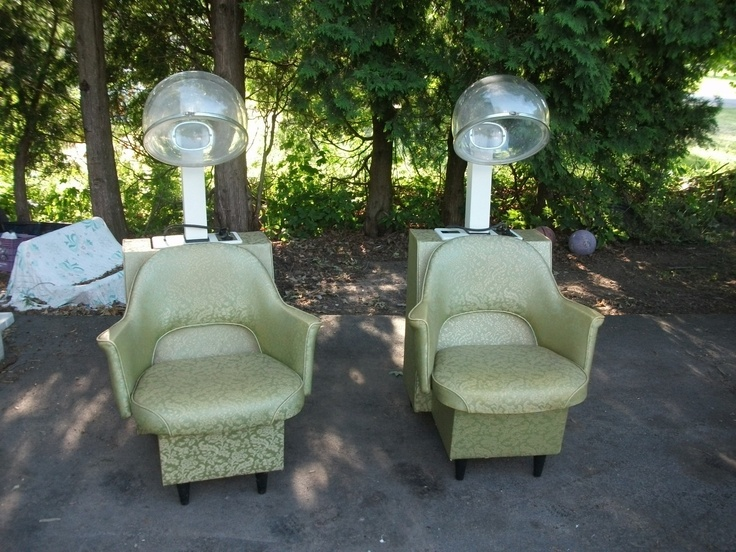 Vintage mid century retro beauty salon chairs naturelle hair dryer