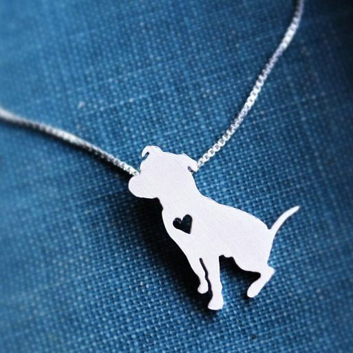 16 quot or 18 quot mayday sterling silver pit bull necklace