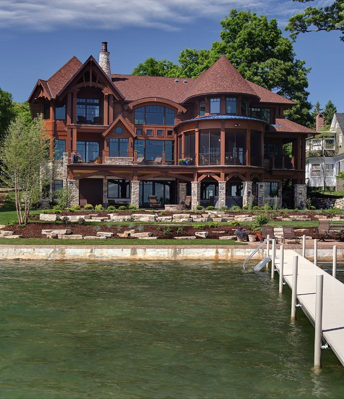 Nice Little Lake House Cool Houses Pinterest