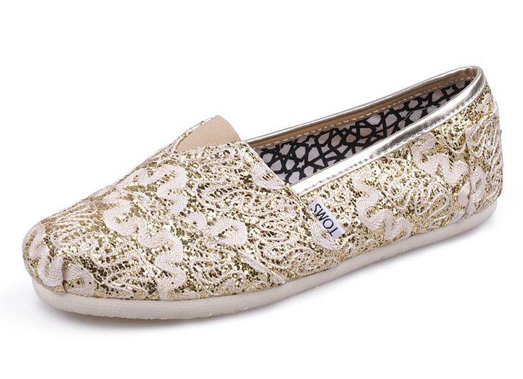 Toms Glitter Shoes For Women Cheap