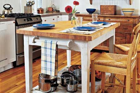 Learn how to build this butcher-block prep island from easy-to-buy materials. | Photo: Van Chaplin | thisoldhouse.com
