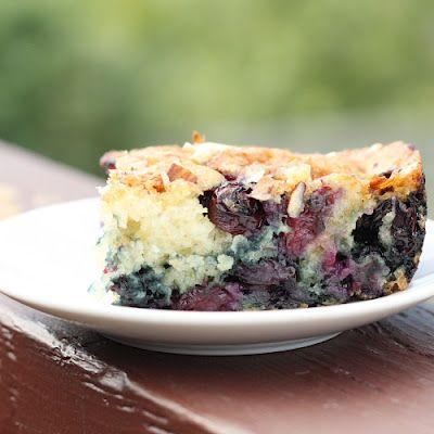 Almond-Berry Coffee Cake Recipe — Dishmaps