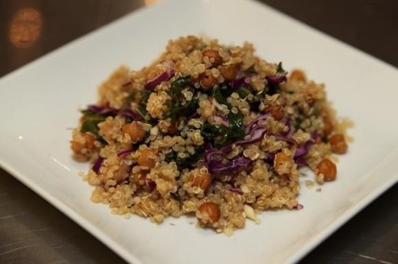 Quinoa, Cabbage, And Garbanzo Beans Recipe — Dishmaps