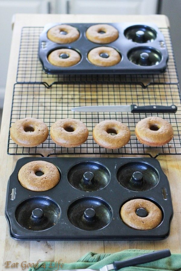 Pumpkin spiced baked donuts with caramel sauce | Recipe
