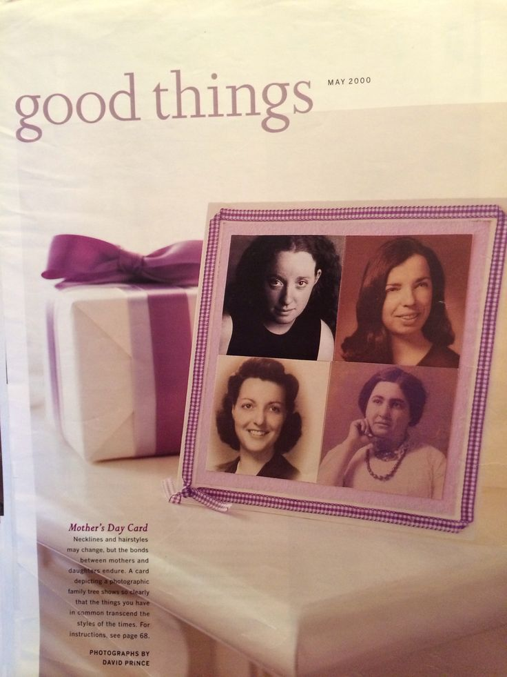 generational Mothers Day Card From Good Things Magazine May 2000 Mother S Mom The For The Love Of Crochet Magazine