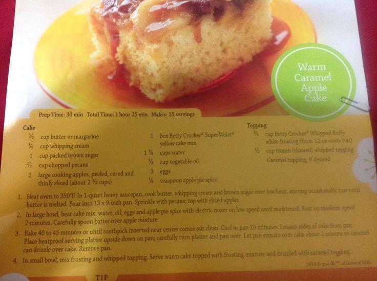 Warm caramel apple cake | Cupcakes & Cake | Pinterest