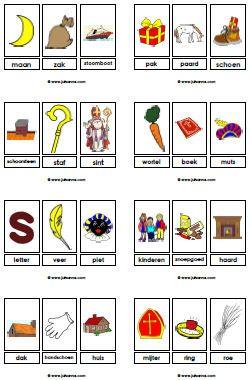 Woordkaarten/Word Cards Sinterklaas