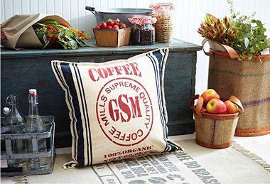 Coffee print cushion