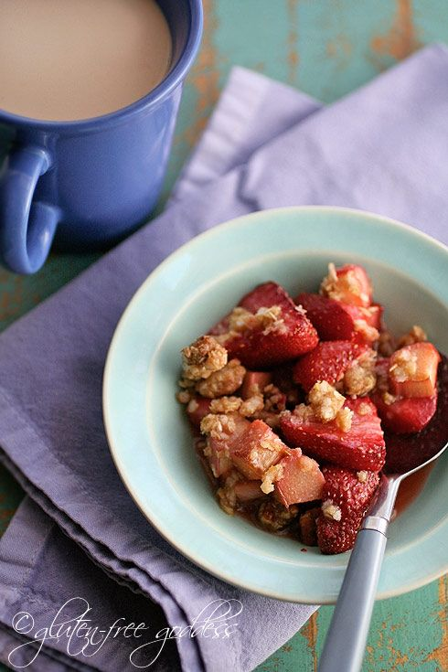 Strawberry rhubarb crisp. #glutenfree | It's Free! | Pinterest