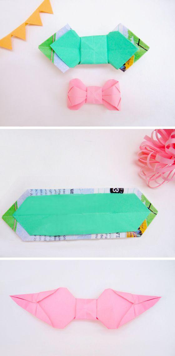 Adorable paper bow ties #DIY.