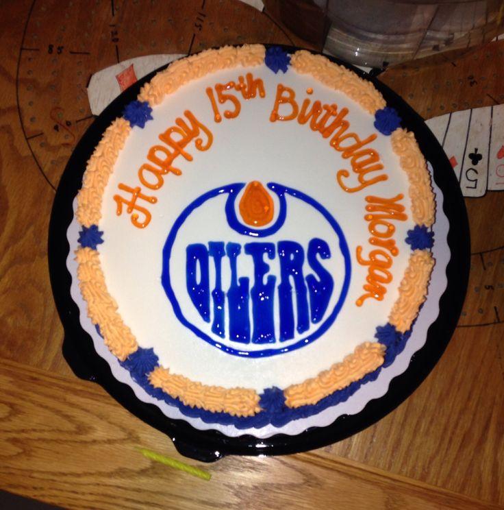 Edmonton Oilers cake  Oilers  Pinterest