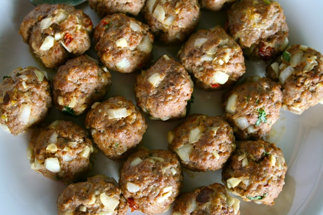 Southwestern Meatballs with Creamy Cilantro Dipping Sauce