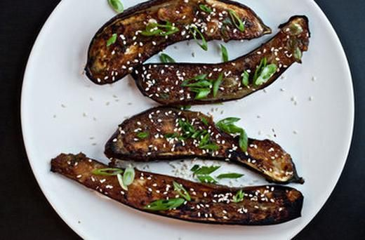 Ginger Miso Glazed Eggplant | cook me | Pinterest