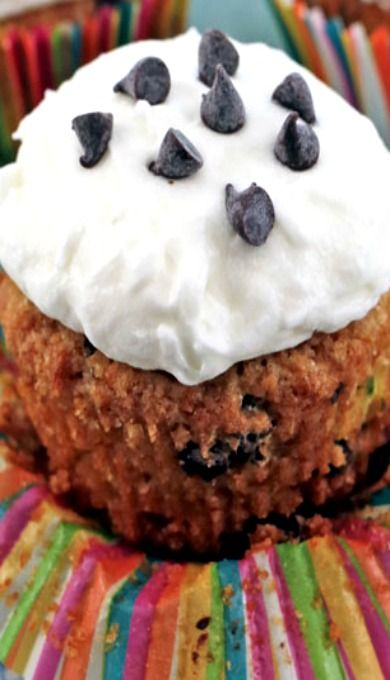 Chocolate Chip Zucchini Cupcakes with Cream Cheese Frosting | Recipe