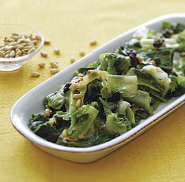 Sautéed Escarole with Raisins, Pine Nuts, and Capers. Tried it ...