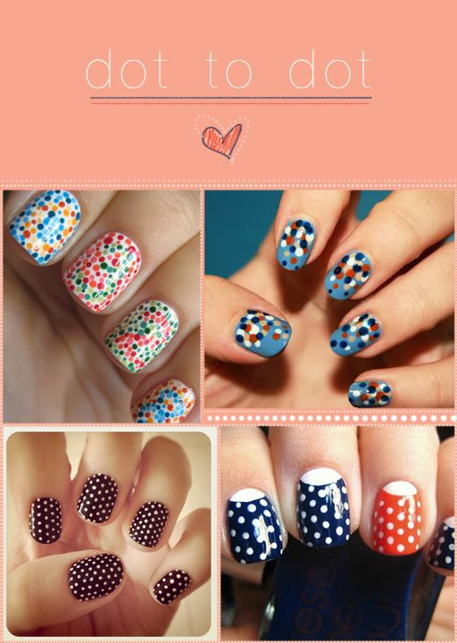 dotted nail art<3