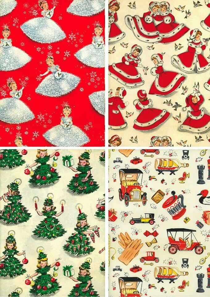 Love this vinta... Vintage Christmas Wrapping Paper