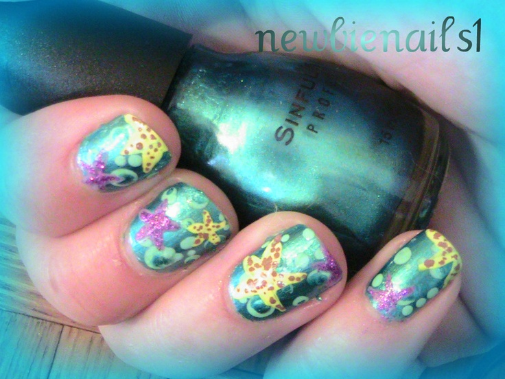 Starfish Nail Art by newbienails1 | Summer Holidays Nail ...
