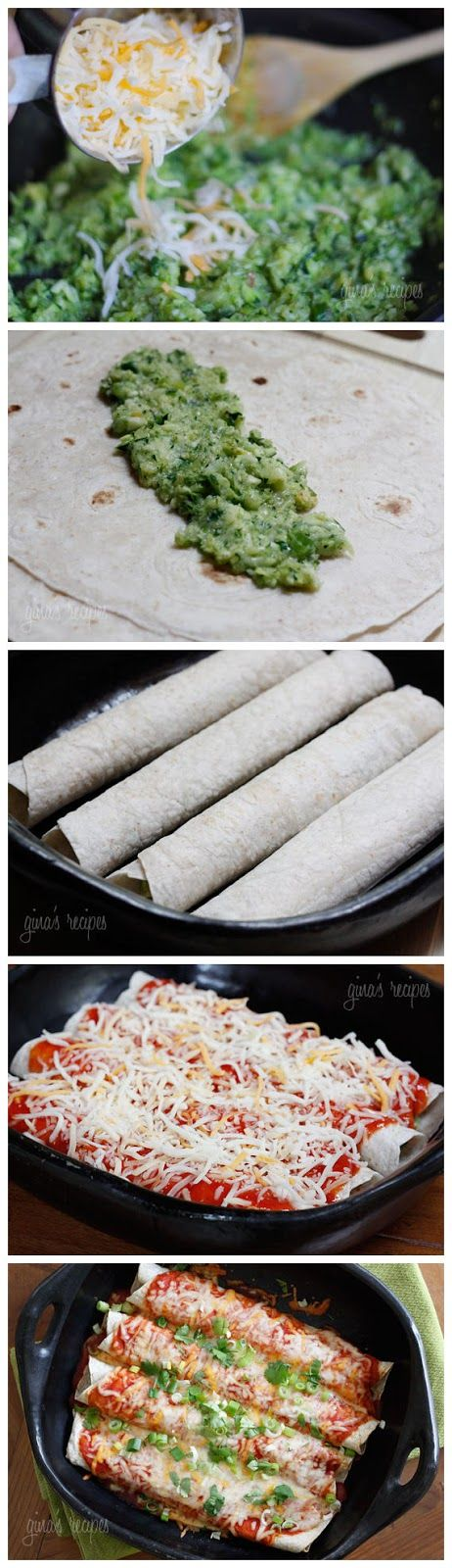Cheesy Zucchini Enchiladas | Recipes | Pinterest