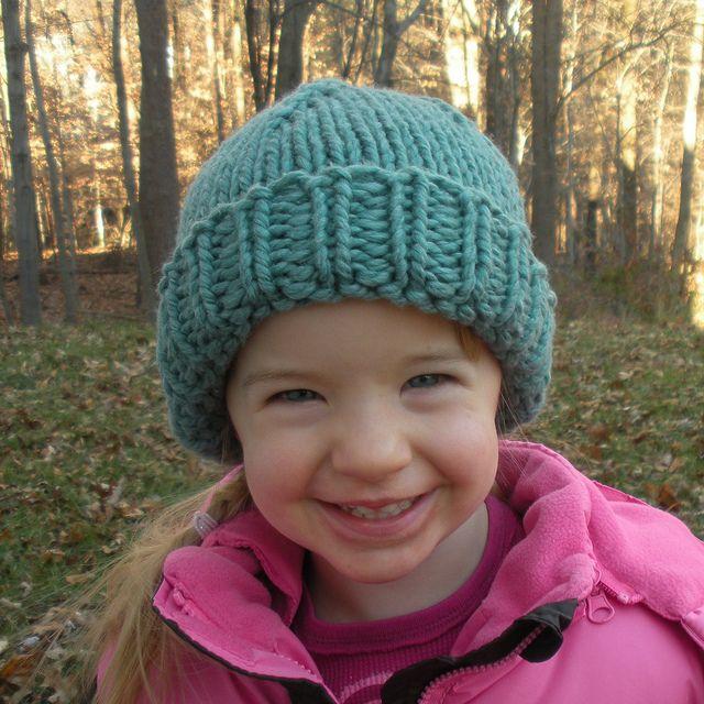 chunky knit hat (free pattern) Knitting Pinterest